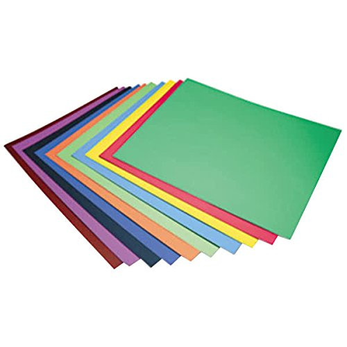 TableTop King 5487 Peacock 28'' x 22'' Assorted Color 4-Ply Railroad Board - 100/Case by TableTop King