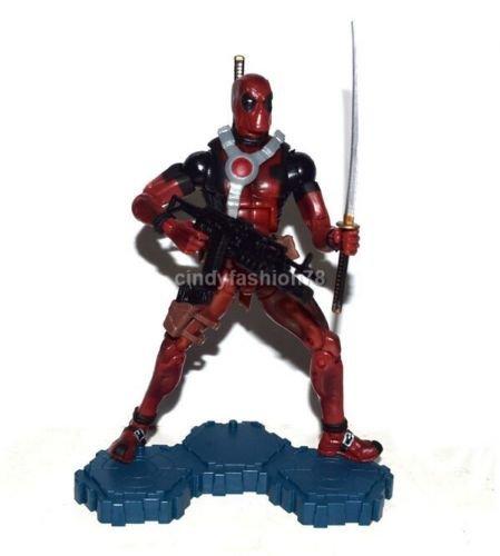 "Marvel Legends 6"" X-Men Deadpool Red Suit Loose Action Figure with base rare"