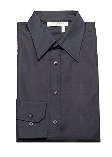 Yves Saint Laurent Men's Cotton Point Collar Dress Shirt - Clothes Laurent Yves Saint