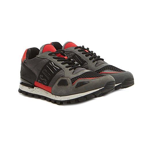 Bikkembergs - Zapatillas de Piel para hombre gris gris gris