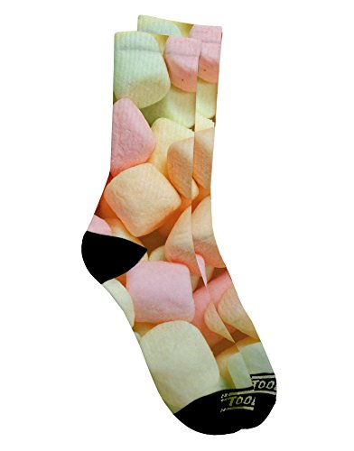 tooloud-marshmallows-all-over-adult-crew-socks-ladies-6-9-or-mens-6-8-all-over-print