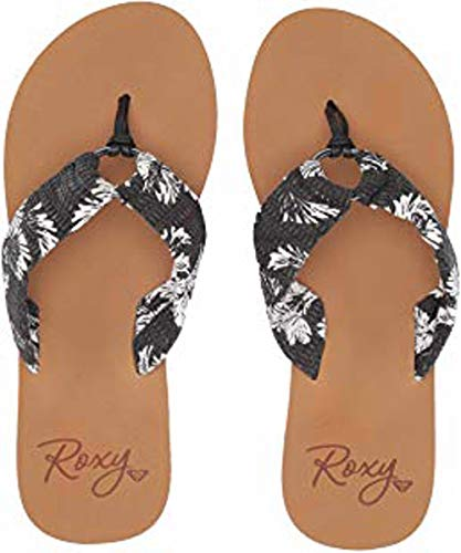 (Roxy Womens Paia Sandals, Black/White Print, 11)