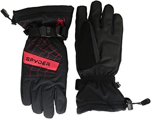 Spyder Boys' Overweb Ski Glove, Black/Red, Small