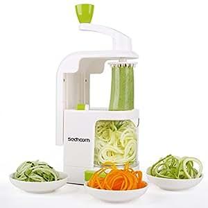 Spiralizer 4-Blade Vegetable Spiralizer, Sedhoom Heavy Duty Spiral Slicer, Zucchini Noodle & Veggie Pasta & Spaghetti Maker for Low Carb/Paleo/Gluten-Free Meals