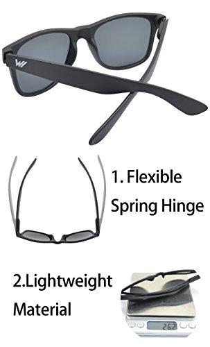 Unisexe Protection UV Cadre de Cadre Charnière 400 Polarisé Lentille Lunettes Matte soleil Spring Lentille Or Mat WHCREAT Noir de Sx8dqwOdz