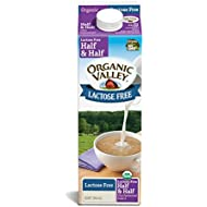 Organic Valley, Organic Lactose Free Half & Half Cream, Quart, 32 oz