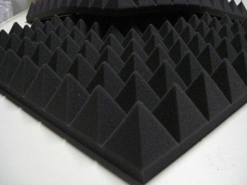 20placas absorber aislamiento acústico Noppen, 49x 49x 6cm Color Antracita Densidad 30 Mail2Mail pyra200
