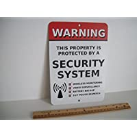 Home Security Alarm System 7 x 10 Metal Yard Sign - Stock # 704