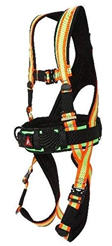 Super Anchor Safety 6101-HX Deluxe Full Body Harness, X-Large, Hi-Viz by Super Anchor Safety (Image #2)