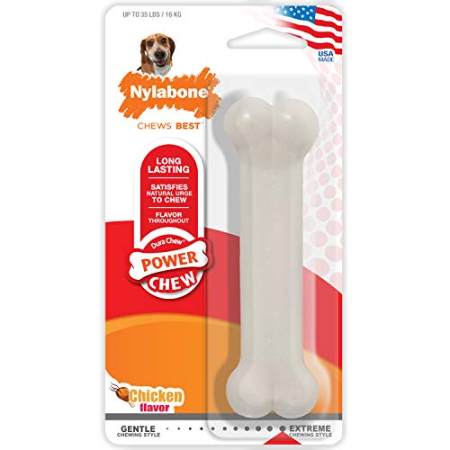 Nylabone Dura Chew Wolf Chicken Flavored Bone Dog Chew - Flavor Wolf Chicken