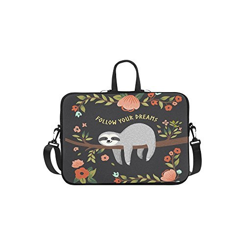 sloth inspirational quote laptop sleeve