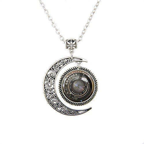 Moon pendant Camera pendant Camera lens pendant Vintage Grahpex necklace Camera jewelry lovely Gift 22