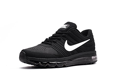 brand new 19055 72c5c Nike AIR MAX 2017 Mens Black Running Sports Shoes
