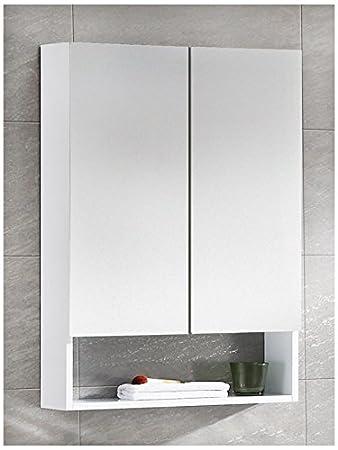 Elegant White Medicine Cabinet No Mirror