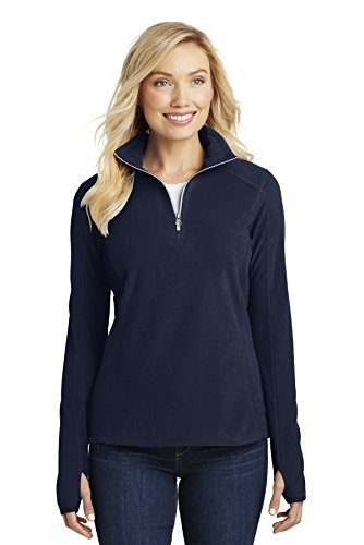 1/2 Zip Navy Fleece - Port Authority Ladies Microfleece 1/2-Zip Pullover, XL, True Navy