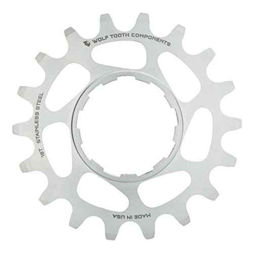 Wolf Tooth Components Single Speed Stainless Steel Cog: 18T, Compatible with 3/32'' Chains by Wolf Tooth Components