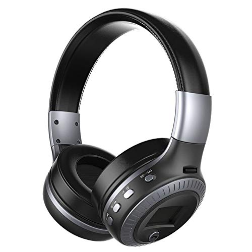 DEGOL Bluetooth Headphones,40mm Driver Hi-Fi Stereo Noise Canceling Wireless Headset, Foldable, Soft Memory-Protein Earmuffs, Built-in Mic and Wired Mode for PC/Cell Phones/TV/Tablet-Black