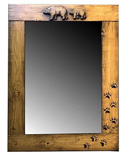 - Piazza Pisano Rustic Bear Cabin Mirror