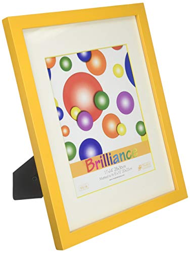Timeless Expressions Brilliance Wall Frame, 11 x 14, Yellow Bright Yellow Picture Frame