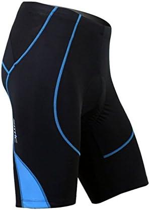 Bicicleta de ciclismo de los cortocircuitos de los hombres de ciclo de SANTIC Pantalones de ciclismo Half Pants 4D COOLMAX acolchado