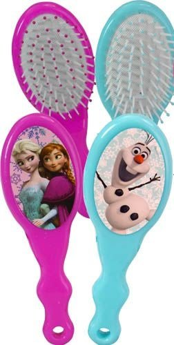 Price comparison product image Disney Frozen Kids Hair Brush, 1 Blue Olaf Snowman, 1 Pink Elsa & Anna, 2 Pack
