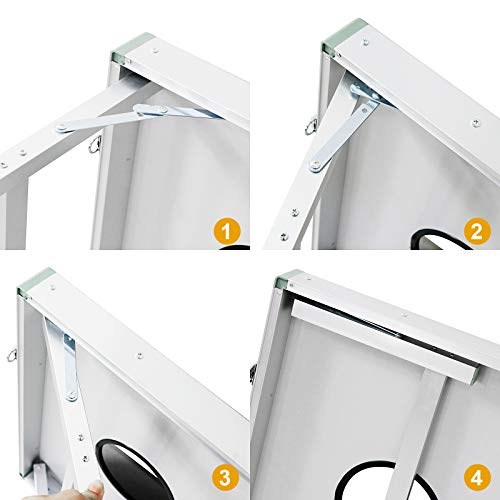F2C Portable Aluminum Framed Bean Bag Cornhole Toss Game Set Board 3FT 2FT/4FT 2FT W/ 8 Bean Bags& Carrying Case (3ft x 2ft Aluminum Frame)