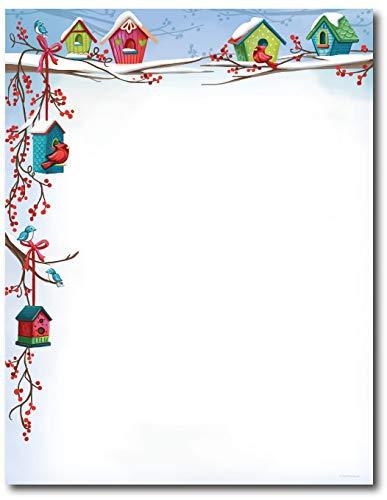 Casas de Navidad Vacaciones papel con membrete papel para ...
