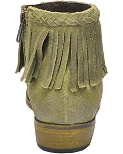 Corral Womens Mocka Flätad Lugg Kort Boot Rund Tå - P5128 Grön