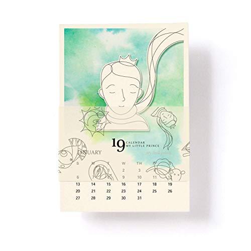 Print Mini Calendar - Little Prince, 2019 Mini Desk Calendar - 4