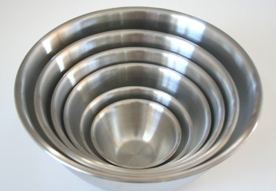 6 Piece Stainless Steel Euro Style Mixing Bowl Set