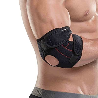 Senston Compression Elbow Sleeve - Adjustable Neoprene Elbow Brace - Arm Wrap Elbow support - Provides Support and Ease Pains