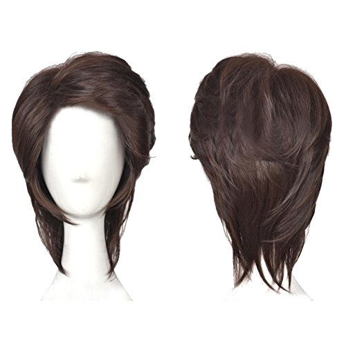 XCOSER Flynn Rider Wig Tangled Animen Flynn Cosplay Short Brown Wig