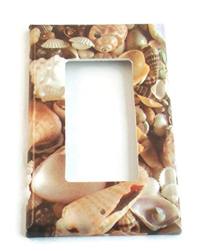 Single Rocker Light Switch Cover, Seashell ()