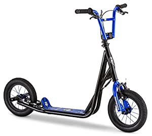 "Mongoose Expo Scooter 12"" Air Inflated Wheels, Kids, Black/Blue"