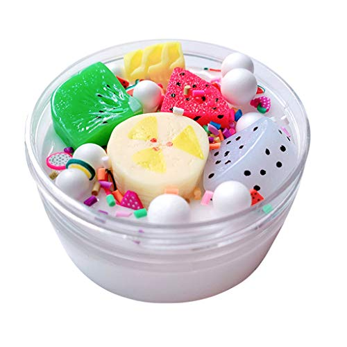 Children's Adult Toys Summer Fruit Platter Slime Mud Decompression Puzzle Plaything Toy (60ml/100ml) (Multicolor, 100ml) -