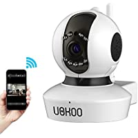 Mini IP Camera, UOKOO 720P Wireless Surveillance Network Camera with Pan/Tilt, Baby Monitor with Night VisionC7823