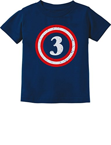 Captain 3rd Birthday - Gift for Three Years Old Toddler/Infant Kids T-Shirt 4T Navy