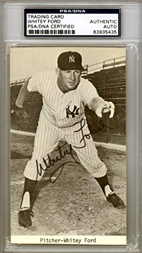 Whitey Ford Autographed Postcard New York Yankees #83935435 PSA/DNA Certified MLB Cut Signatures