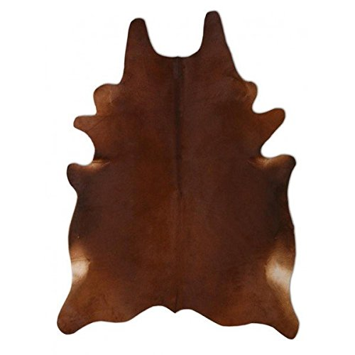 A-STAR(TM) Western Cowhide Rug - Cow Hides Area Rug 5 x 4 (Solid Brown )