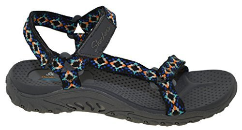 Skechers Women's Reggae - Redemption Charcoal/Multi 8 B US