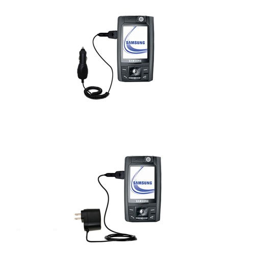 (Essential Gomadic AC /DC Charge Accessory Bundle for the Samsung SGH-D800. Kit includes the Gomadic Home and Car Chargers at a Money Saving Price. Based on TipExchange Technology)