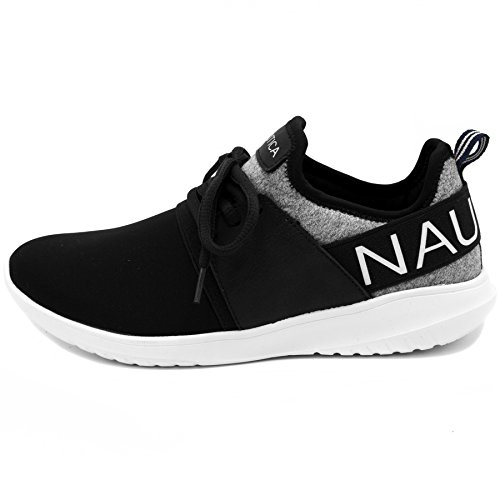 Women up Sneaker up Nautica lace slip Lace Heathered Jogger Fashion on Black xnSqwFUq