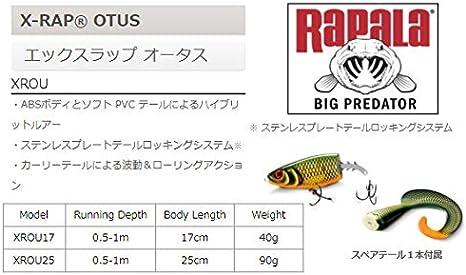 Rapala X-Rap Otus 25cm 90g Esche Predators Spare Tail Included NUOVI COLORI 2020