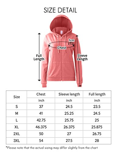 Regna X Women's Long Sleeve Casual Pullover Full Zip Hoodie Grey M by Regna X (Image #7)