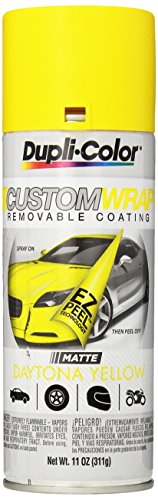 Dupli-Color ECWRC8027 Custom Wrap Matte Daytona Yellow