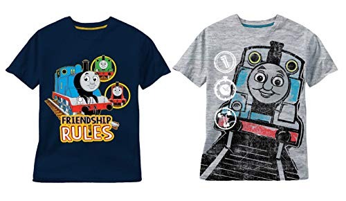 Nickelodeon Toddler Boy's Thomas and Friends 2 Pack T-Shirts Navy/Heather Grey