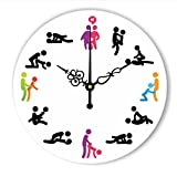 Modern Design Sex Position Wall Clock For Bedroom Wall Decoration Absolutely Silent Make Love Clock Wedding Gift,C