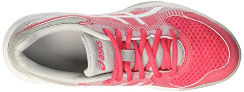 Voleibol 1901 Rojo Rouge Red Gel Zapatos para Task Asics Grey Mujer Mid de White KIT4zq