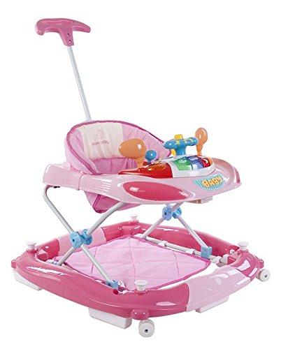 Sun Baby - Andador con volante, color rosa: Amazon.es: Bebé