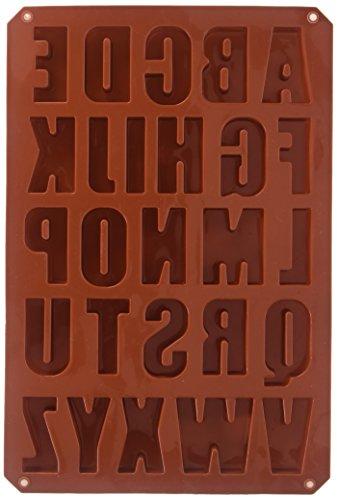 silicone alphabet baking mold - 1